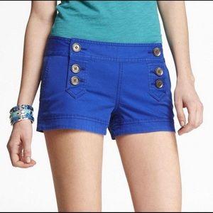 Express button up Sailor Shorts